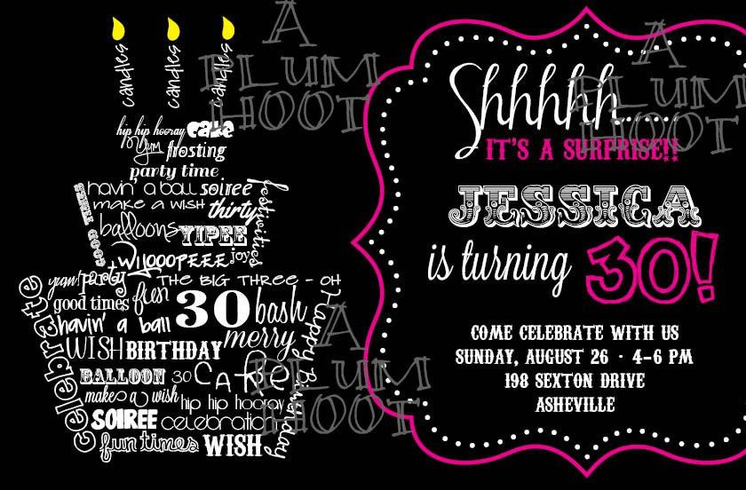 Birthday Invitation Template 30Th Birthday – orderecigsjuice.info