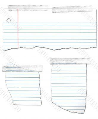 Ripped and Taped Loose Leaf Notebook Paper | Background/Texture ...