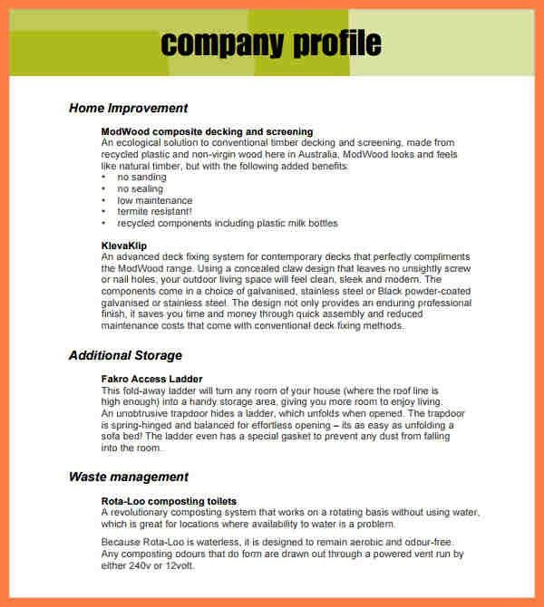 5+ company description template | Company Letterhead