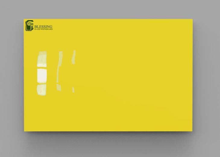 Yellow Glass Writing Boards, 48X60 Colored Dry Erase Board, Kid ...