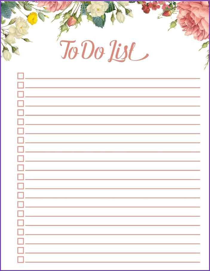 PRINTABLE TO DO LIST | Jobproposalideas.com