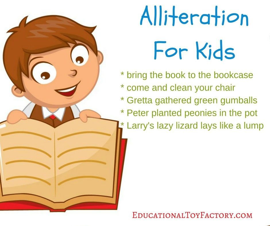 Alliteration For Kids - Educational Toy Factory