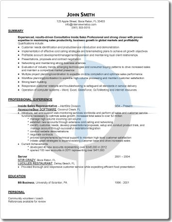 Professional Resume Samples for Mid-Level Managers