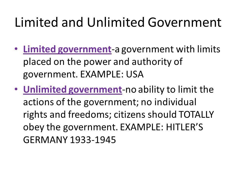 Unit 2: Limited Government and Unlimited Government in Europe in ...