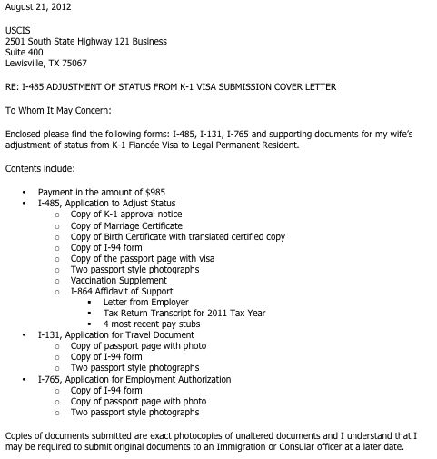 i 485 cover letter cv resume ideas. can i just print out the aos i ...