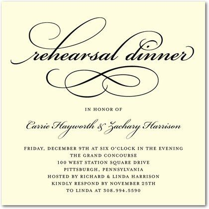 Rehearsal Dinner Invitations Templates Free - iidaemilia.Com