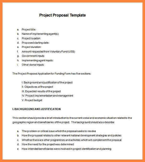 6+ example project proposal format | Bussines Proposal 2017