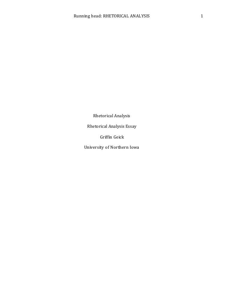 Rhetorical Analysis Essay-Final