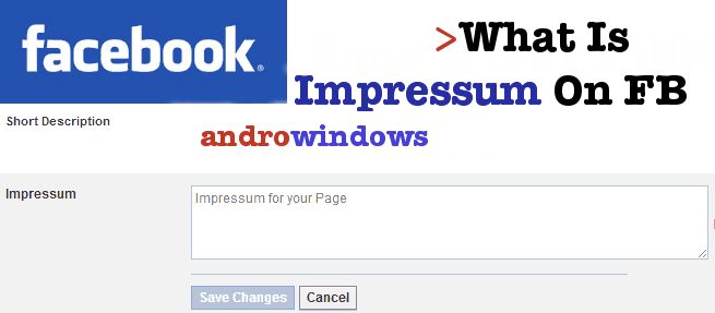 What Is Facebook Page Impressum, Examples, Generator