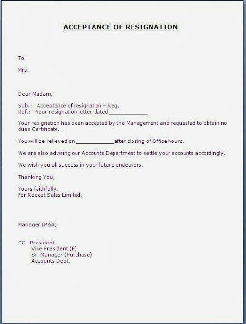 Resignation Acceptance Letter. 5 Gmail - Re_ Resignation ...