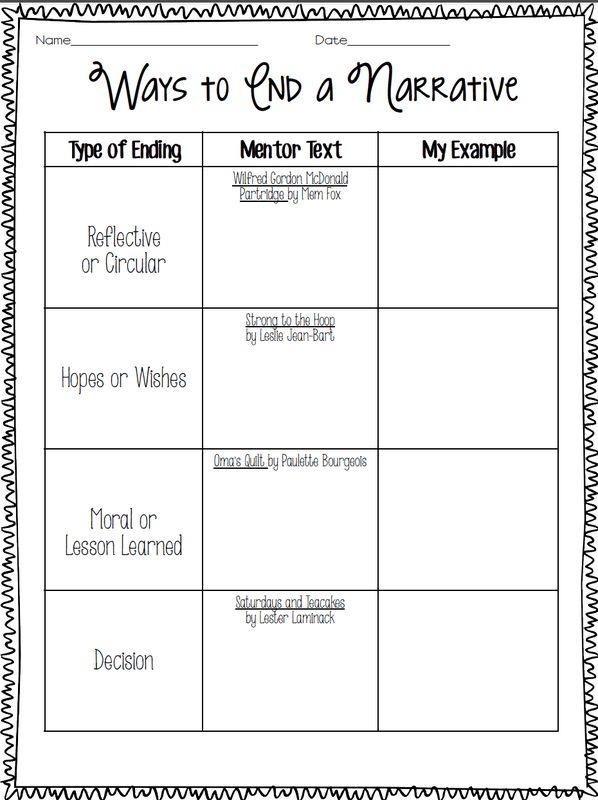 Ways to END a Personal Narrative - Cruisin' Through 4th Grade ...