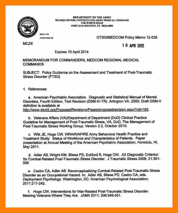 9+ army memorandum format | appeal leter