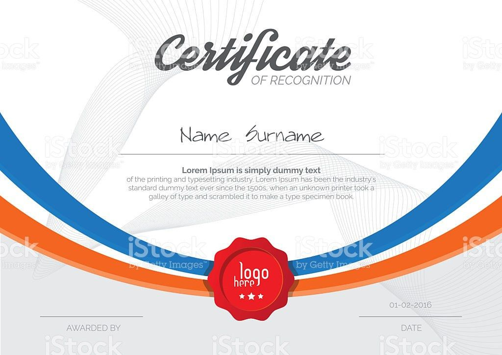 A4 Certificate Layout stock vector art 618618722   iStock
