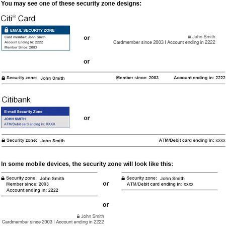Security Center - Citibank