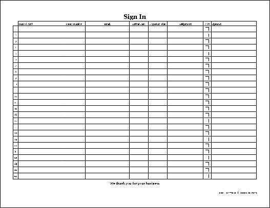 Free Easy-Copy Detailed Volunteer Sign In Sheet with Signature ...
