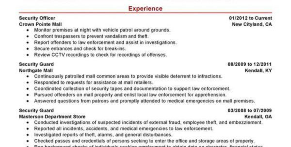 security guard cover letter for resume security officer resume ...