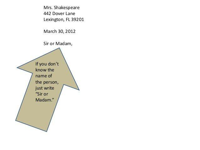 FD WL Formal Letter Writing Presentation