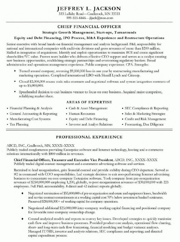 resume sample 8 international human resource executive resume ...
