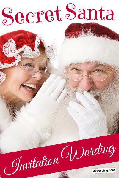 Secret Santa Invitation Wording » AllWording.com