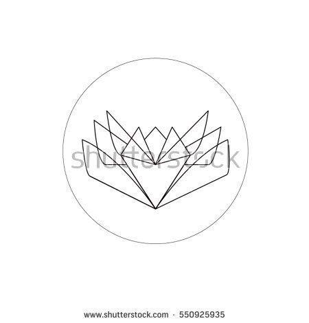 Simple Geometric Moon Rabbit Starry Night Stock Vector 227644648 ...