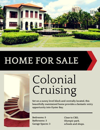 Colonial House Real Estate Flyer - Templates by Canva