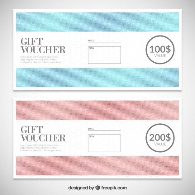 Gift Voucher template pack Vector | Free Download