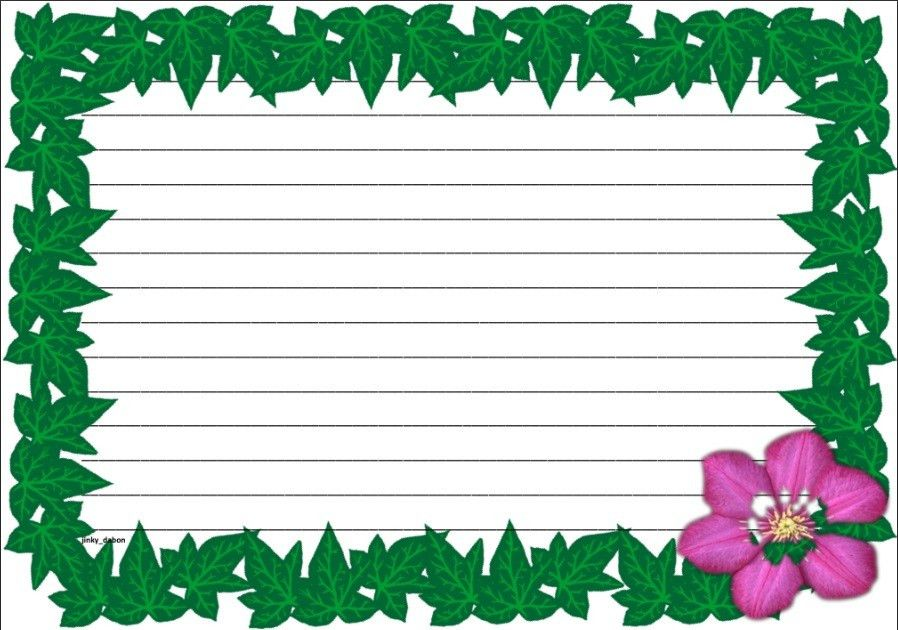 A set of spring time themed lined paper and page borders for your ...