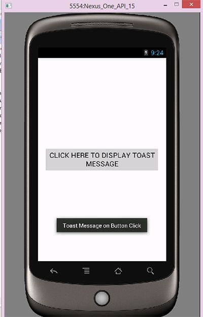 Android Toast message widget example Tutorial - Android Examples