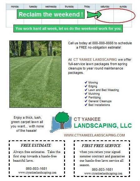 Spring lawn care postcard and flyer design ideas. | Lawn Care ...