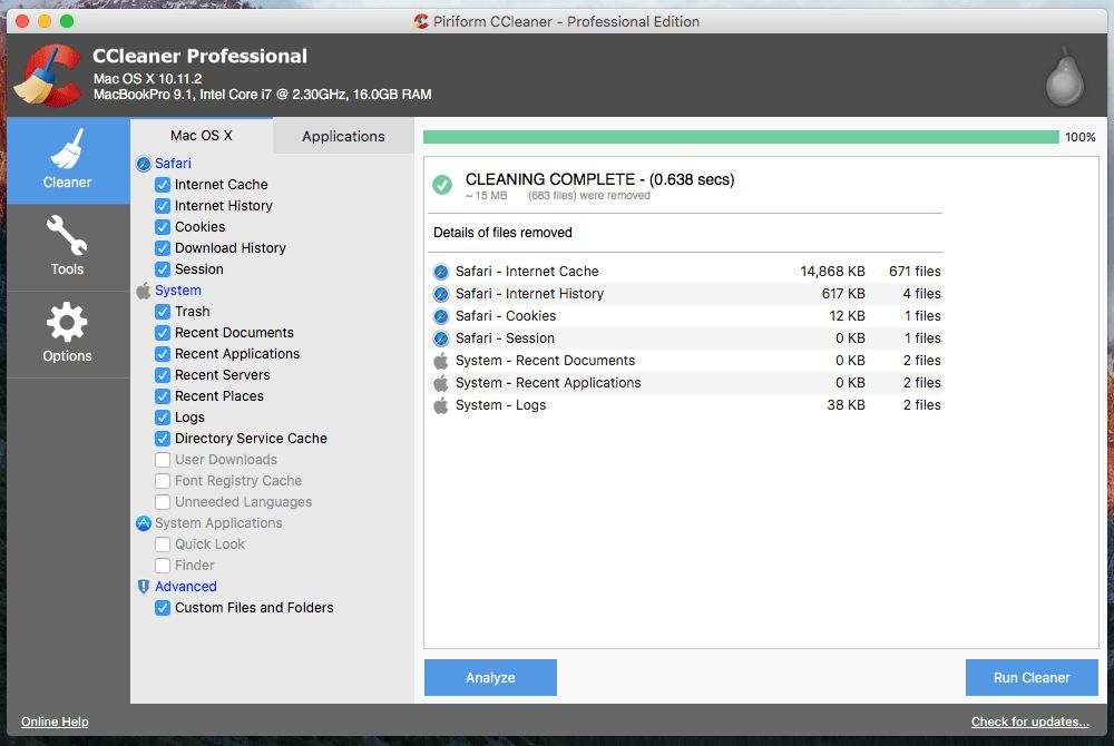 CCleaner for Mac - Free download and software reviews - CNET ...