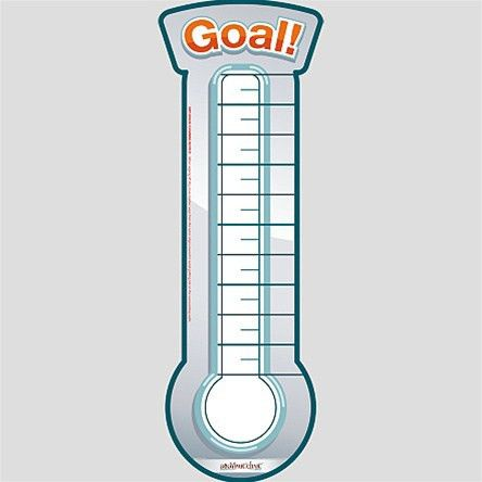 BodyPartChart Goal Thermometer - Anatomical Charts