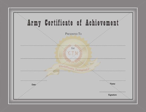 Army certificate of achievement template army certificate of army certificate of achievement template certificate template yadclub