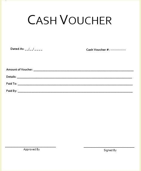 8 Free Sample Cash Voucher Templates – Printable Samples