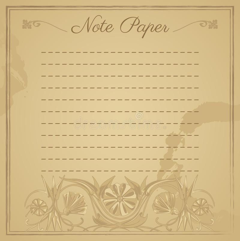 Note Paper Template Stock Photography - Image: 30900922