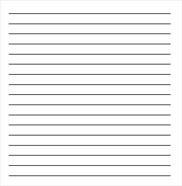 lined paper template word