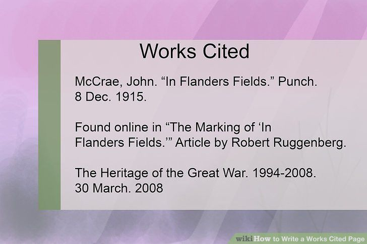 4 Ways to Write a Works Cited Page - wikiHow