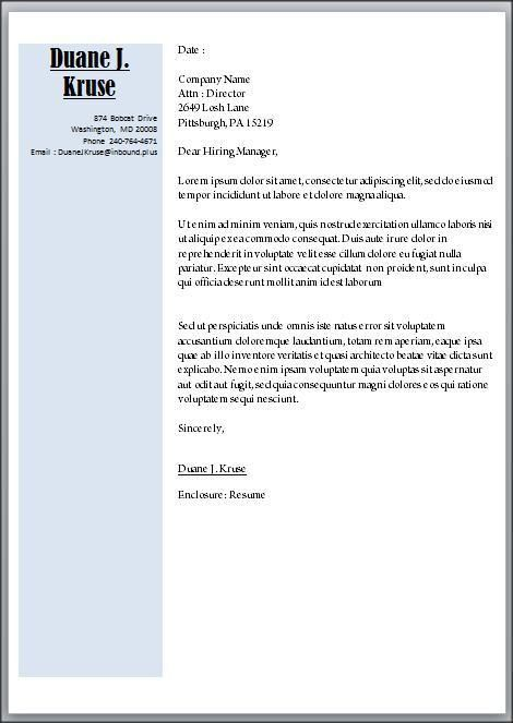 microsoft word cover letter template download ...