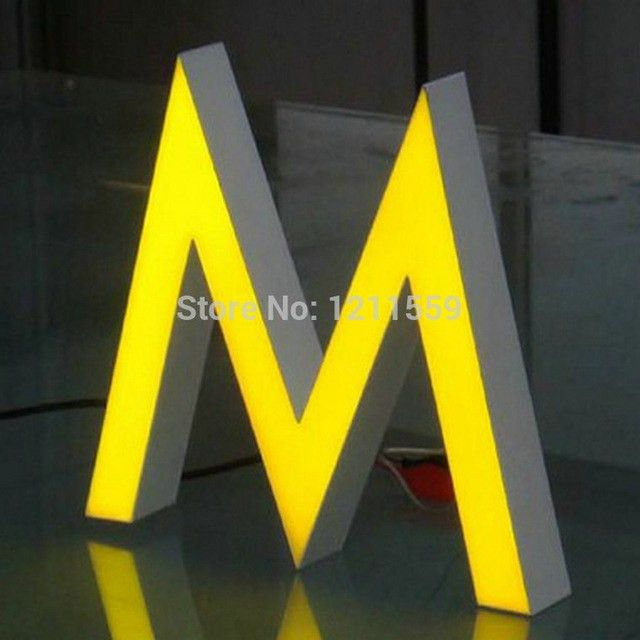 Customized Store front signage Epoxy Resin Channel letters Sign ...