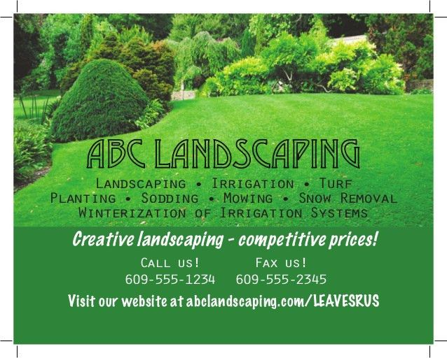ABC Landscaping Ad