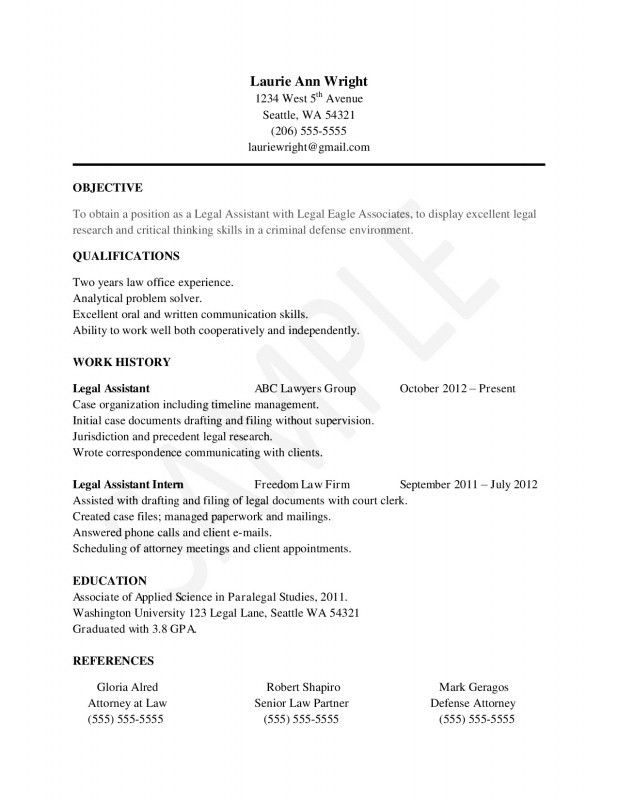 Resume With No Work Experience. No Work Experience Resume Template ...
