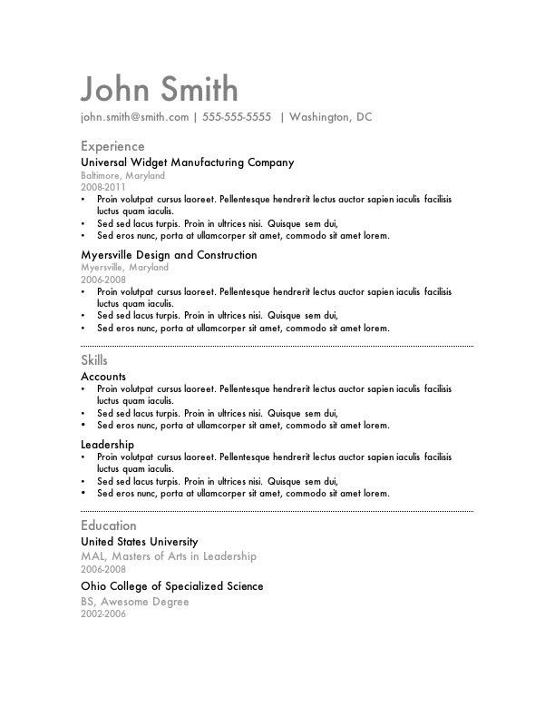 Astounding Good Resume Formats 1 Download Resume Format Write The ...