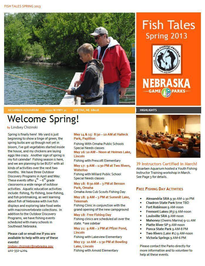 Youth Fishing Instructor Newsletter, Spring 2013 - NEBRASKALand ...