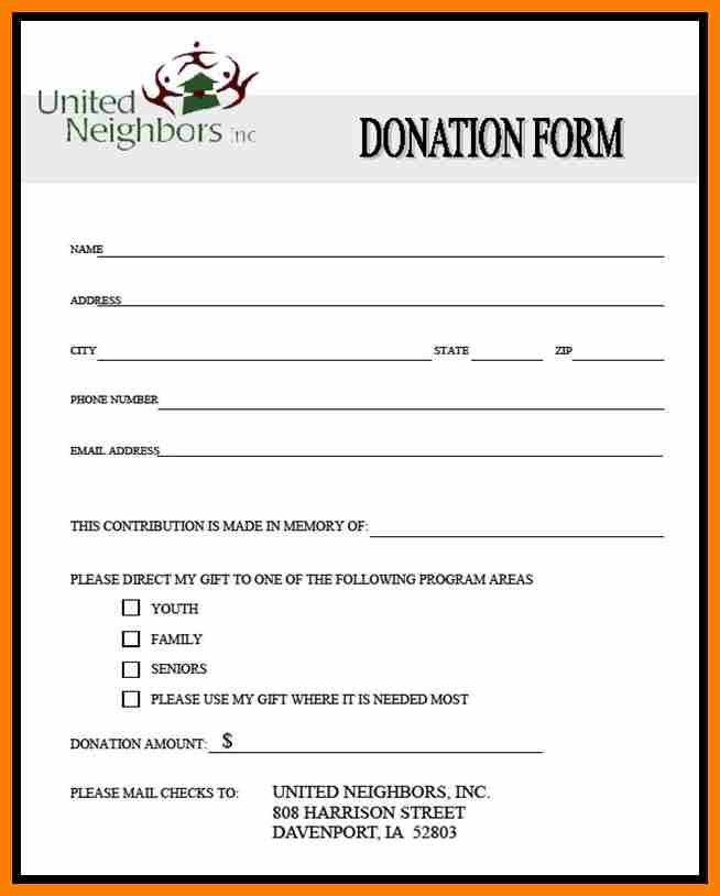 5+ donation form template word | science-resume