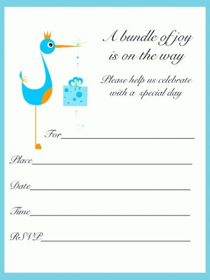 Top 10 Free Online Baby Shower Invitations Templates 2017 ...