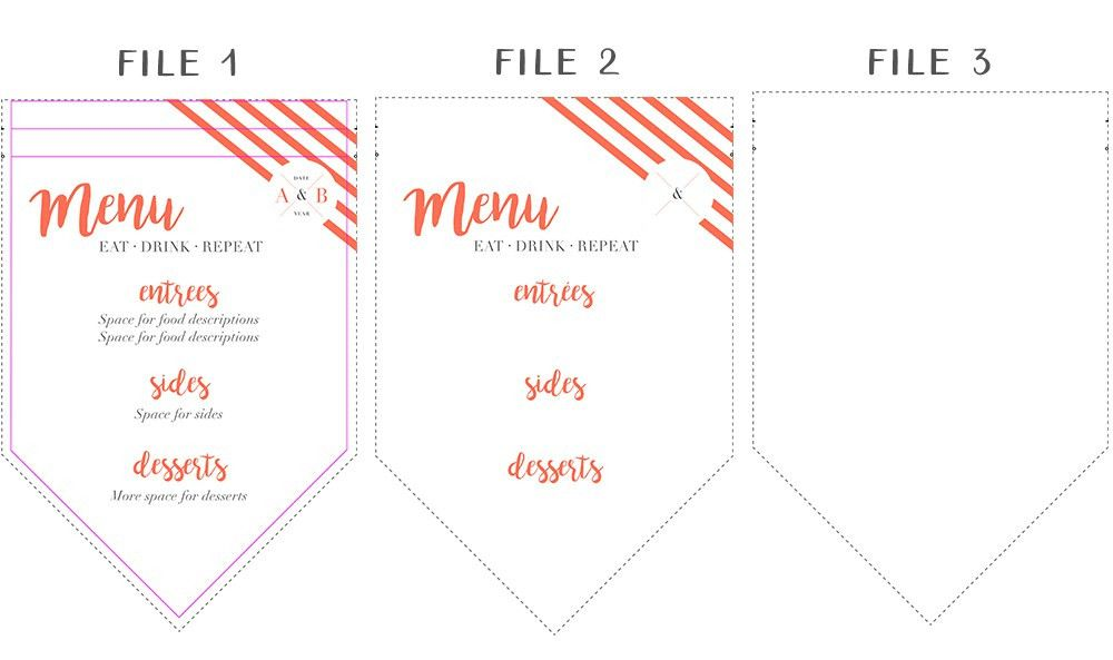 Impress your Guests with a DIY Fabric Menu Pennant | Spoonflower Blog