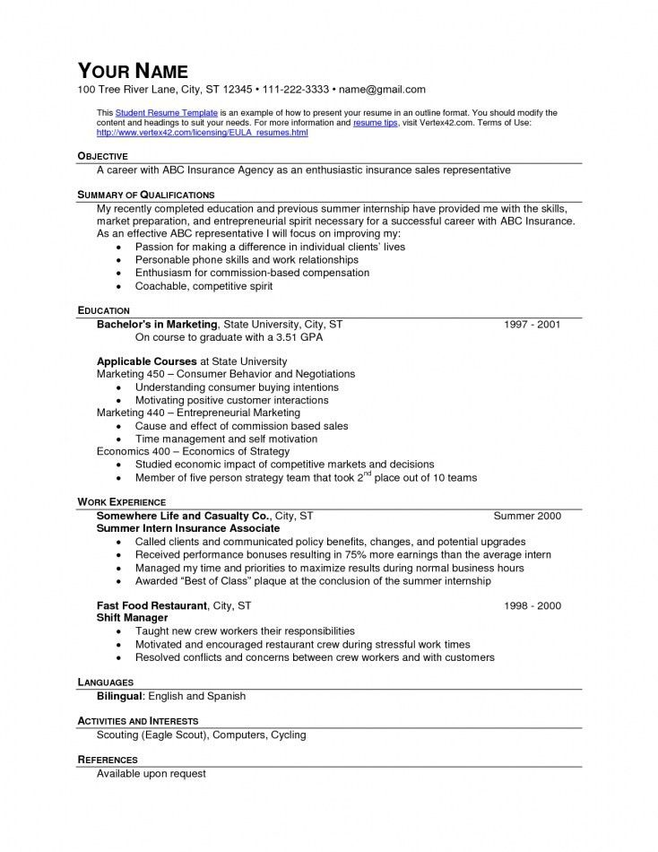 Fast Food Resume Examples | Resume Template Free