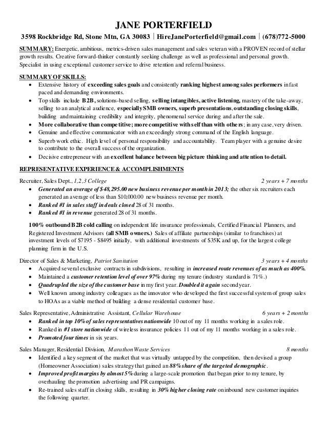 Stunning Resume For Inside Sales Contemporary - Simple resume ...