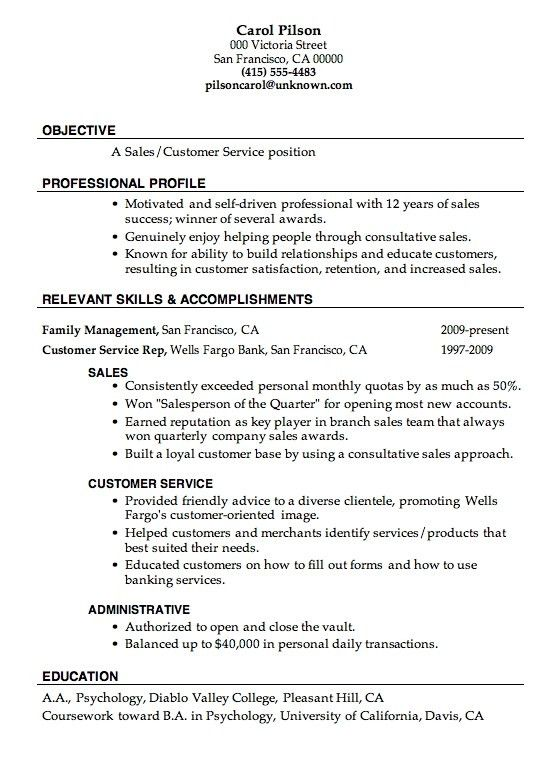 Resume Examples For Any Job - formats.csat.co