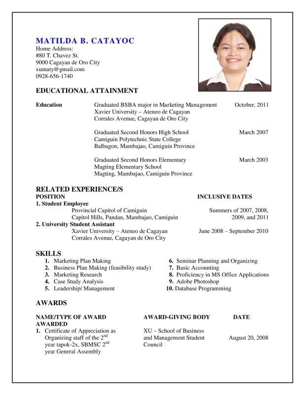 how to do resume how to make resume for first job with example