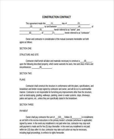 Construction Form Samples - 9+ Free Documents in Word, PDF